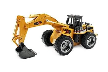 HUINA TOYS 2.4G 6CH Mini RC Excavator Engineering Vehicle Truck