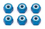 Associated AS6943 Blue Wheel nuts 8-32 Imperial (6)