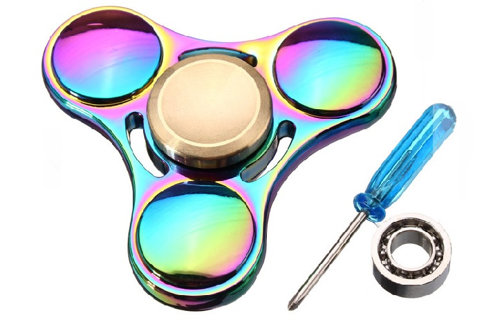 Colorful Fidget Hand Spinner Gadget Tri-Spinner Finger Focus Red