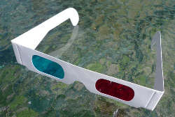 REFLEX 3D GLASSES CYAN RED ANAGLYPH