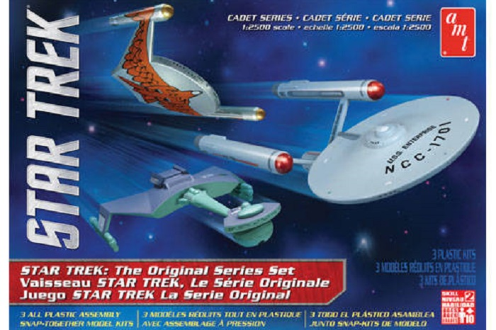 1:2500 Star Trek Cadet Series TOS Era Ship Set SNAP