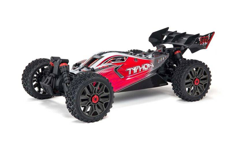 ARRMA TYPHON 4X4 V3 3S BLX 1/8 Brushless Buggy RTR, Red