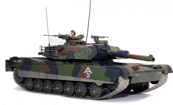 M1 Abrams RC Battle Tank - Forest Camouflage
