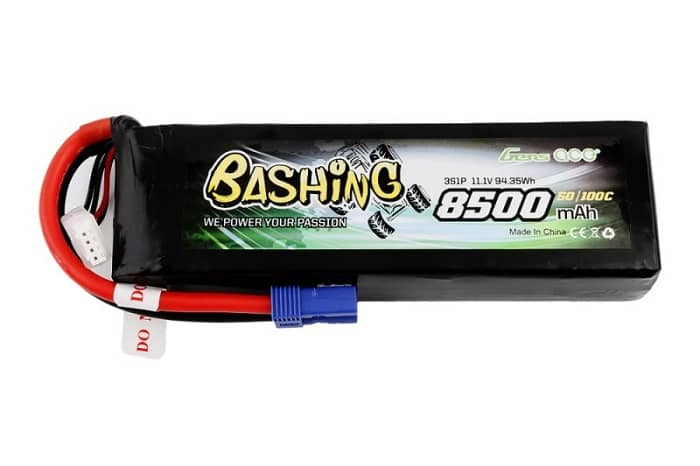 Gens ace 8500mAh 11.1V 50/100C 3S1P Lipo Battery with EC5 plug
