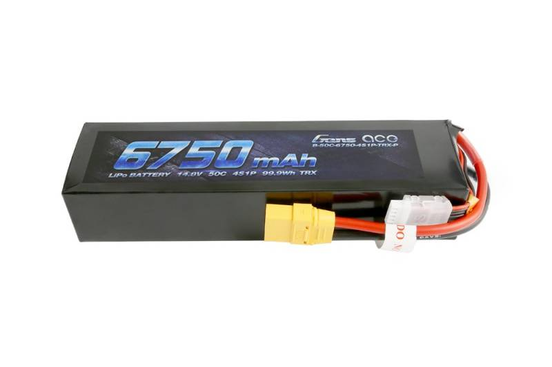 Gens ace 6750mAh 14.8V 50C 4S1P Lipo Battery Pack - XT90
