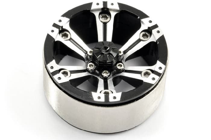 "FASTRAX 1.9"" HEAVY DUTY SPLIT 6-SPOKE ALLOY BEADLOCK WHEELS (X2)"