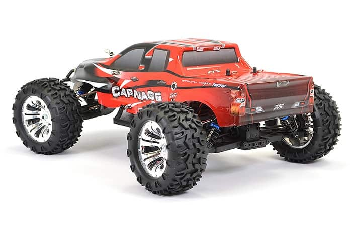 FTX CARNAGE 2 1/10 BRUSHED RC TRUCK 4WD RTR - RED
