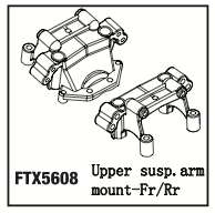 FTX FR/RR UPPER SUSPENSION ARM MOUNT (RAMPAGE/OUTRAGE)