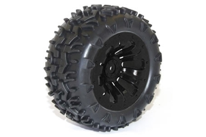 FTX Carnage Mounted Wheels/Tyres - Black (2)