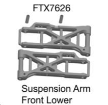 FTX DESTROYER FRONT/LOWER SUSPENSION ARM (2)