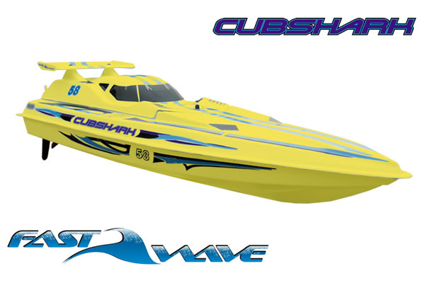 Fast Wave Cubshark EP 650mm Ready-To-Run RC Racing Boat