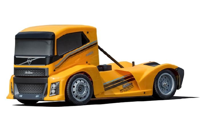 HOBAO HYPER EPX 1/10 RC CAB TRUCK ROLLER - YELLOW BODY
