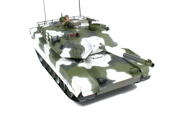 HOBBY ENGINE M1A1 ABRAMS BATTLE RC TANK - WINTER EDITION