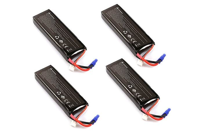 HUBSAN BATTERY PACK FOR H501S - H501A - H501M 4PCS