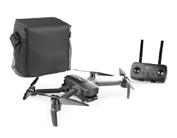 HUBSAN ZINO PRO FOLDING DRONE W/EXTRA BATT, CAR CHG AND BAG