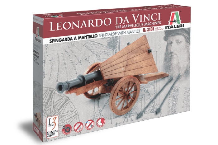 Spingarde with mantlet Leonardo Da Vinci series