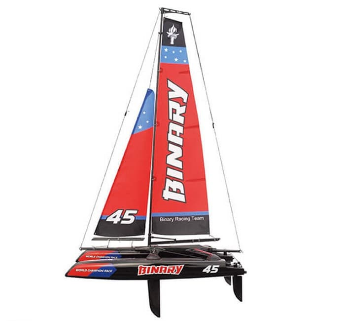JOYSWAY BINARY 400MM MINI CATAMARAN RC SAILBOAT RTR RED