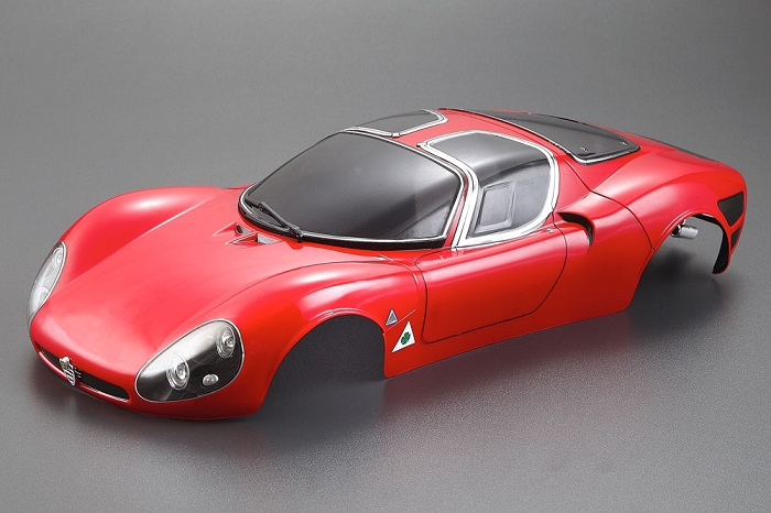 ALFA ROMEO TIPO33 STRADALE 190MM FINISHED BODY