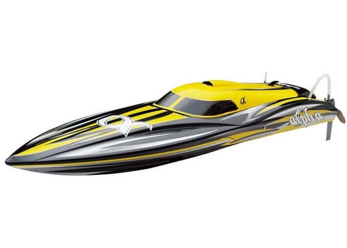 JOYSWAY ALPHA BRUSHLESS YELLOW ARTR RACING RC BOAT