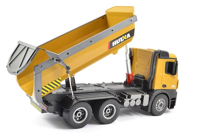 HUINA RC TIPPER/DUMP TRUCK 2.4G 10CH WITH DIE CAST CAB, BUCKETS