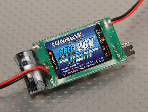 Turnigy 5A (8-26v) SBEC for Lipo Batteries