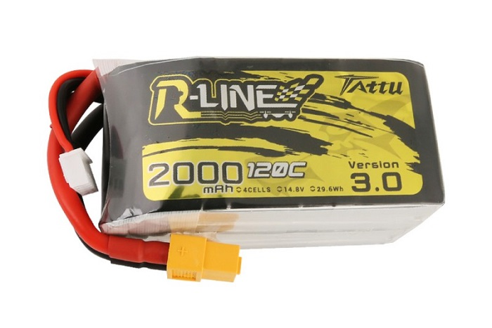 Tattu R-Line Version 3.0 2000mAh 14.8V 120C 4S1P Lipo Battery