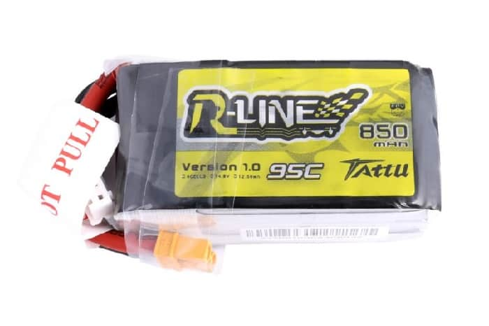 Tattu R-Line 850mAh 14.8V 4S1P 95C Lipo Battery Pack with XT30