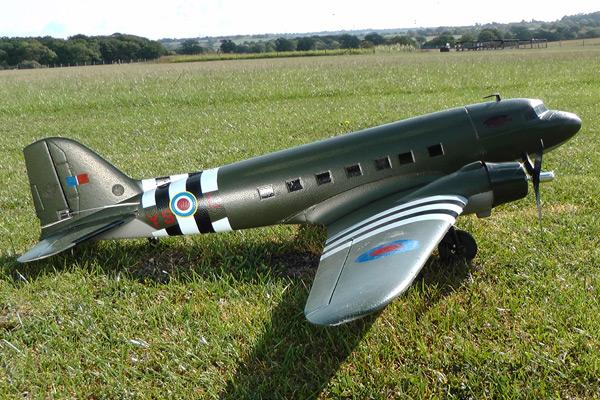 Top Gun Park Flite Douglas C-47 Dakota RTF Electric Warbird with