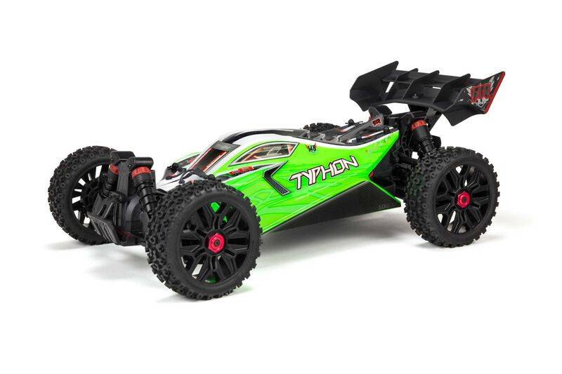 ARRMA TYPHON 4X4 V3 MEGA 550 1/8 Brushed Buggy RTR, Green