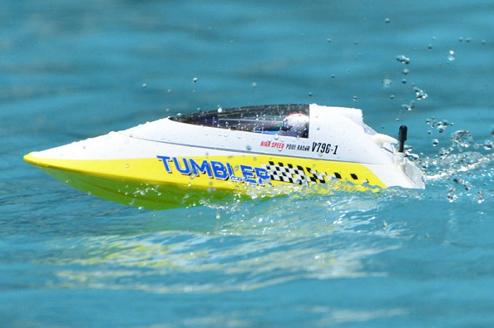 VOLANTEX TUMBLER MINI RACING RC BOAT RTR- YELLOW