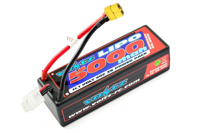 VOLTZ 5000MAH HARD CASE 11.1V 50C LIPO STICK PACK XT60