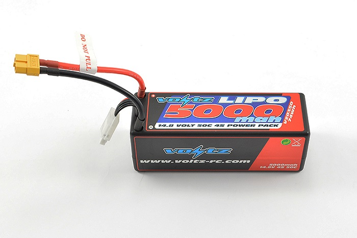 VOLTZ 5000MAH HARD CASE 14.8V 50C LIPO STICK PACK XT60
