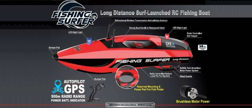Fishing Surfer RC Boat