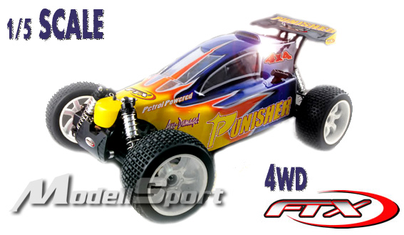 FTX Punisher 1/5 Scale 4wd RTR, RC Buggy with 23CC Petrol Engine