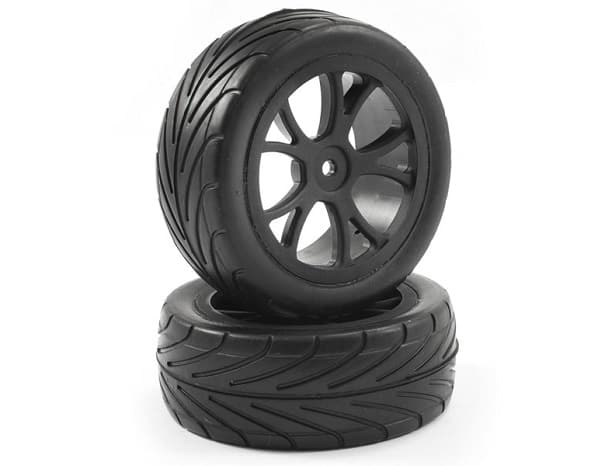 FASTRAX 1/10 MOUNTED ARROW BUGGY FRONT TYRES 10-SPOKE