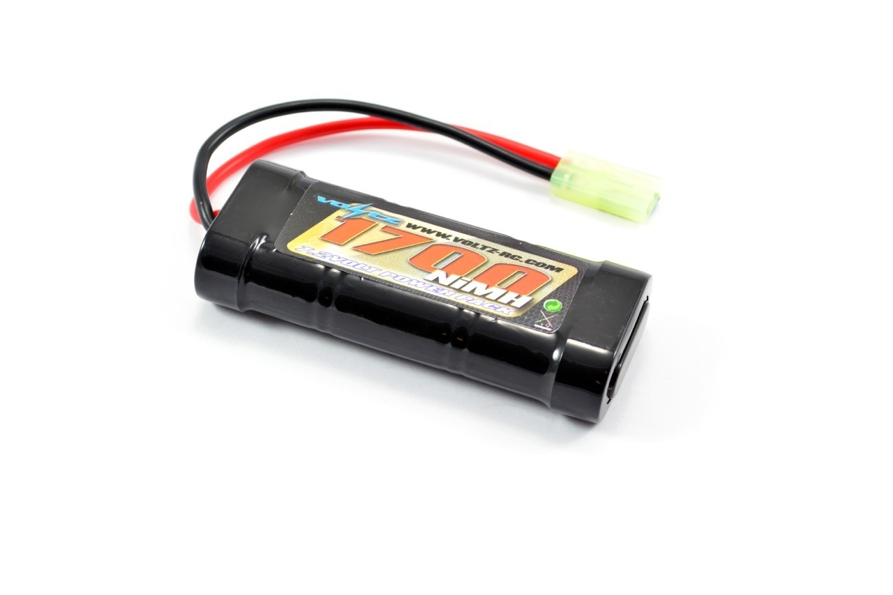 VOLTZ 6 CELL 7.2V NIMH 1700MAH BATTERY STICK PACK W/MINI TAMIYA