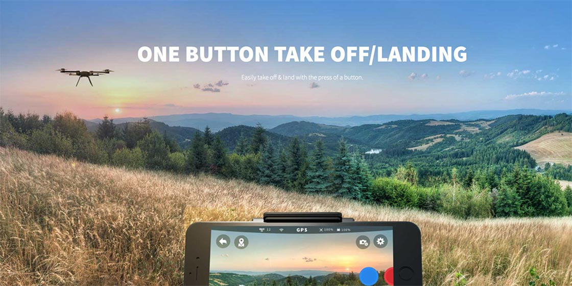 ONE BUTTON TAKE OFF/LANDING