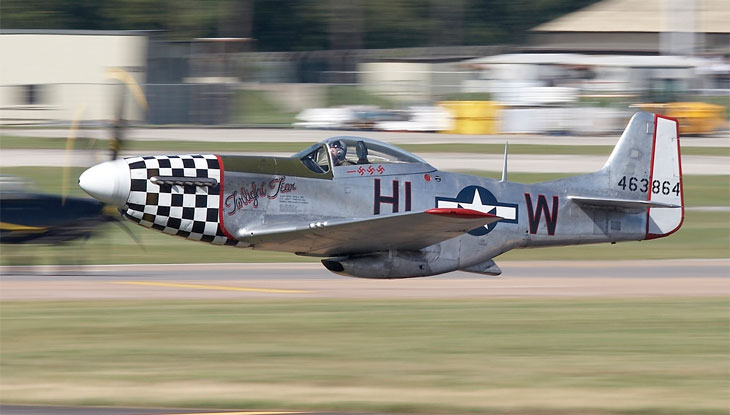 P51 Mustang Large Scale Rc Airplane Silver Pnp St T04b